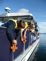 Floating Classroom BoyswithSecchiDisksonside