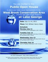 West Brook Public Input Schedule Flyer