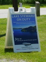 Lake steward on duty sign 2
